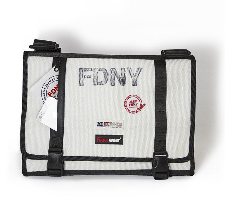 FDNY fire hose messenger bag by Reheroed