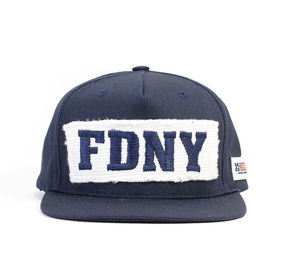 FDNY Rescue Company hat with an embroidered FDNY fire hose patch.