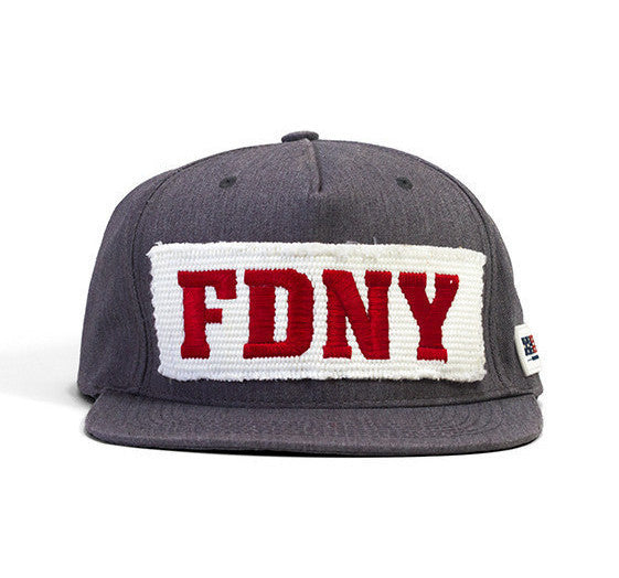 FDNY Ladder Company hat with an embroidered FDNY fire hose patch.