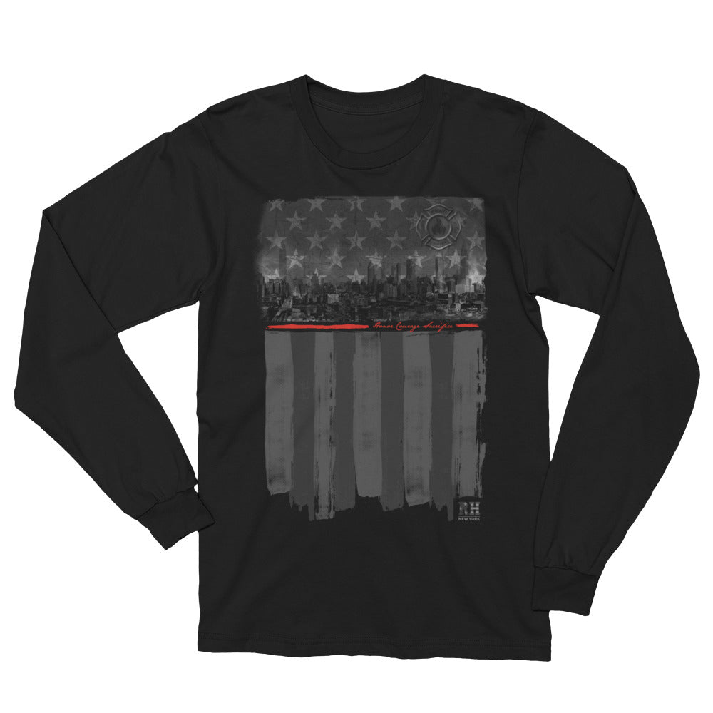 Reheroed Thin Red Line Long Sleeve Tee