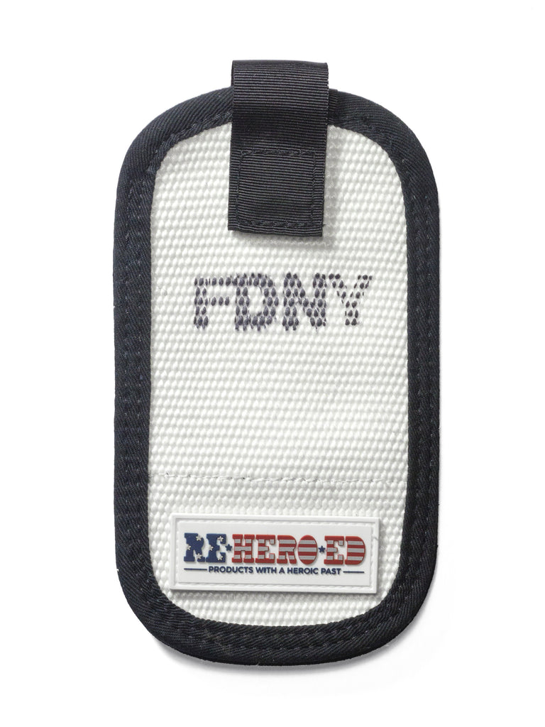 Reheroed FDNY Fire hose cell phone case closed view