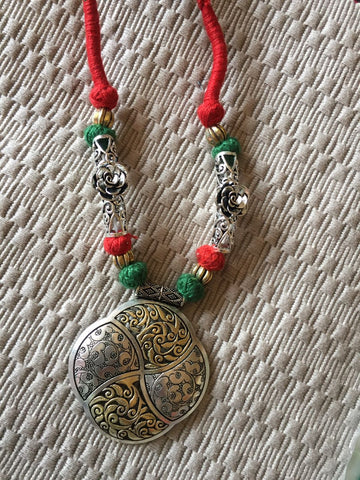 Ancient Carvings Ethnic Thread Jewelery