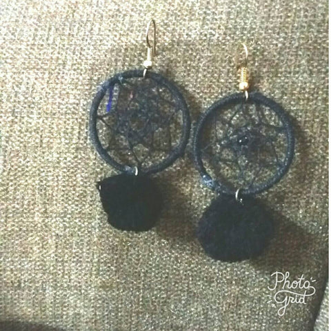 Dreamcatcher Pom Pom Earrings