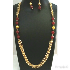 Fine pearls multilayered Traditional necklace ser