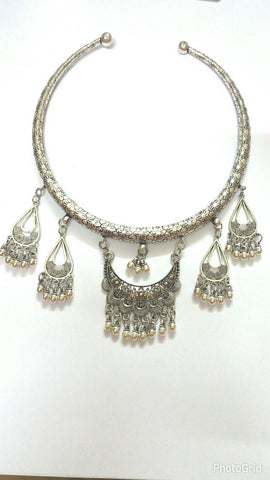 Ethnic Choker Statement Necklace