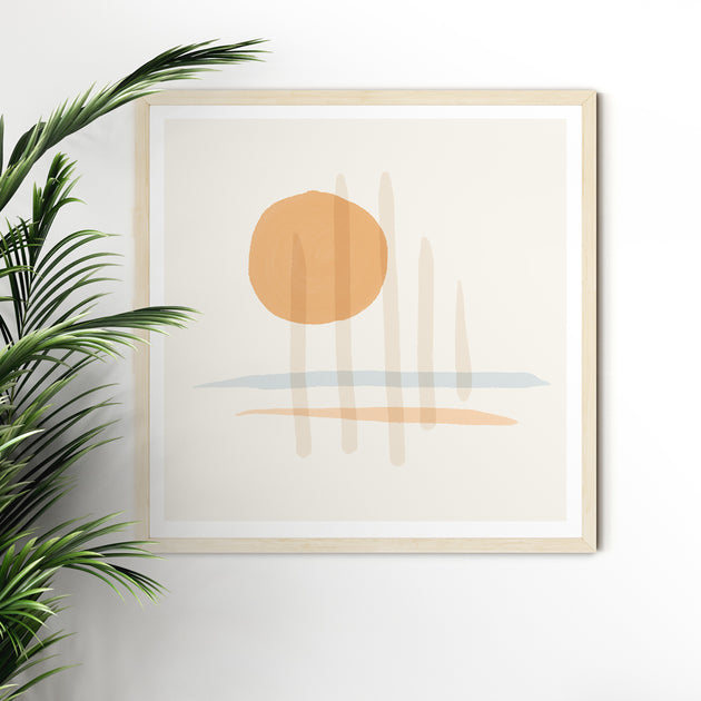 "Beach Art Print ""Sundown"" Escapism Series"