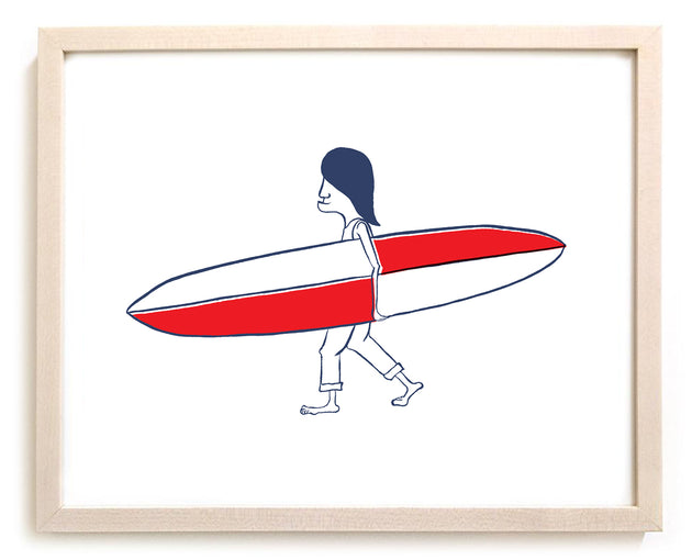 "Surfing Art Print ""Aces"""