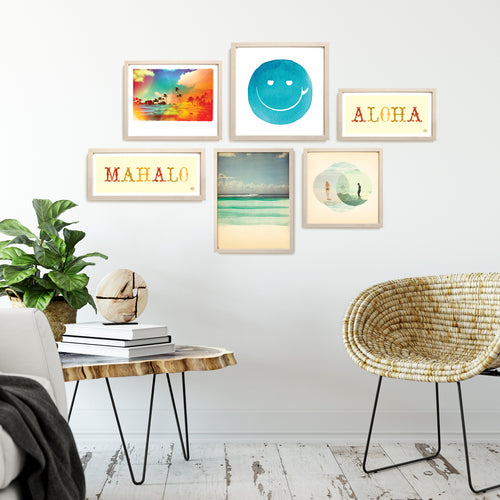 Aloha Beach Art Gallery Wall