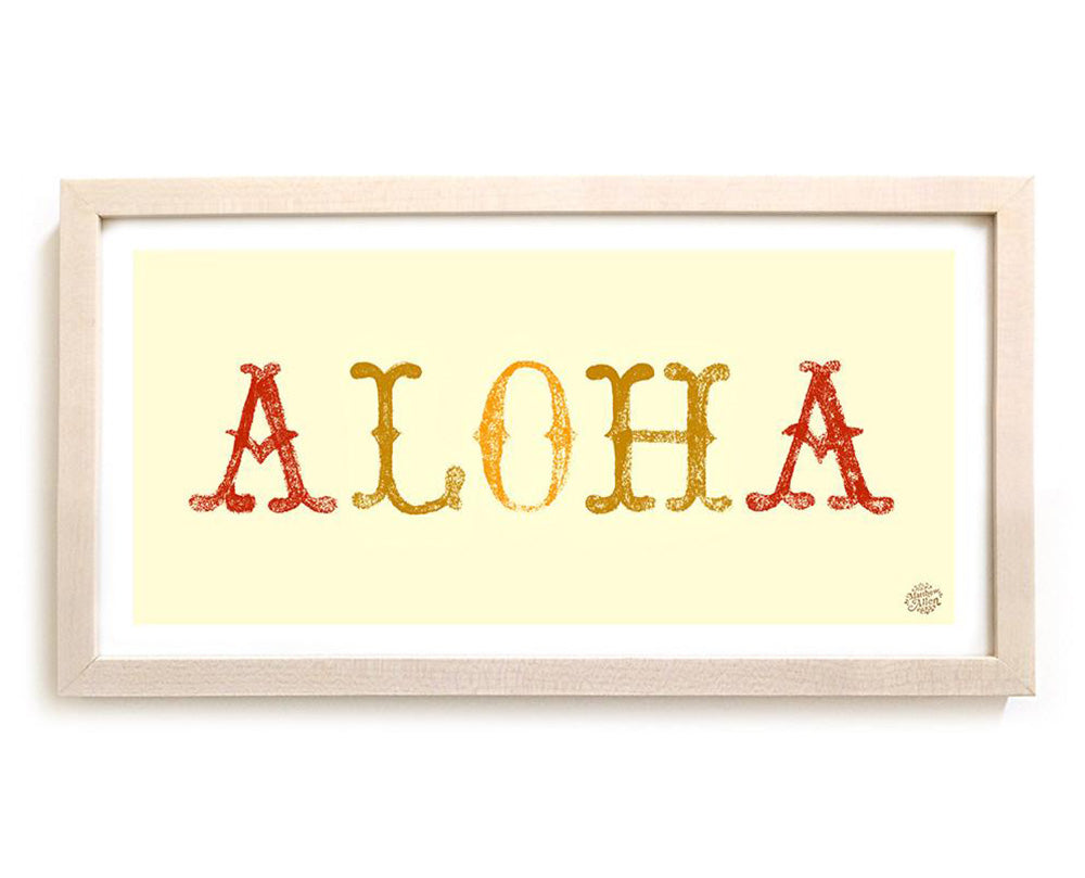 "Limited Edition Surfing Art ""Aloha"""
