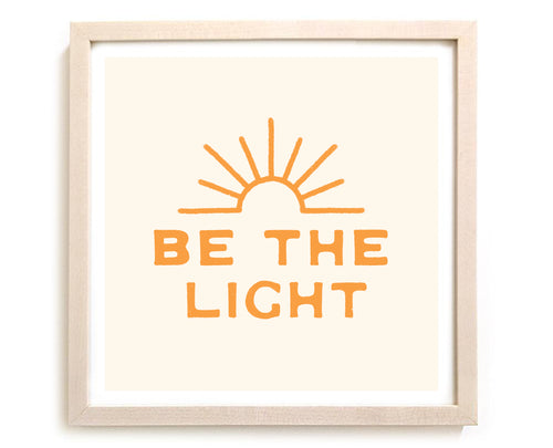 "Contemporary Art Print ""Be The Light"" Creme"