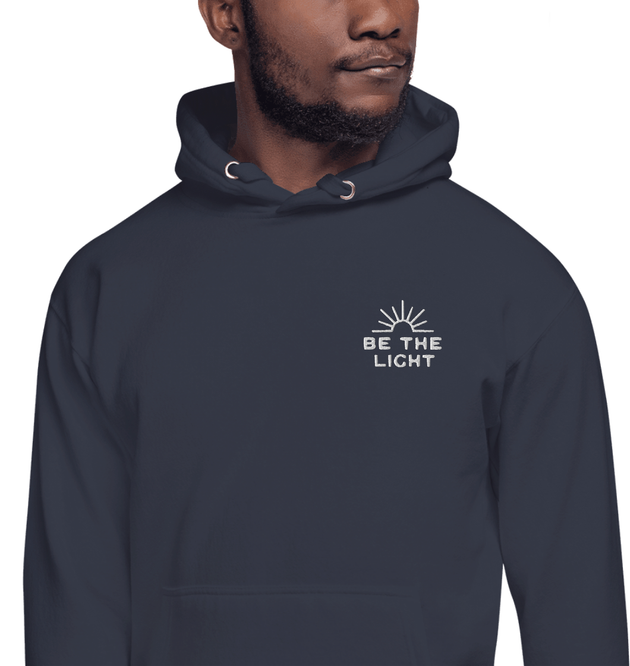 Be The Light Embroidered Men's Hoodie