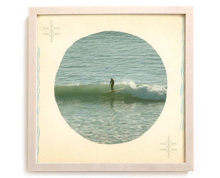 "Surfing Art Print ""Behold He Is Coming With The Clouds"" - Mixed Media"