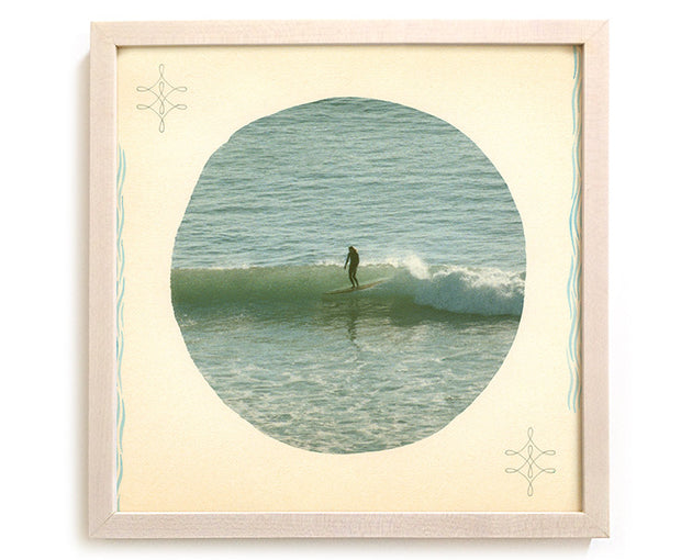 "Limited Edition Surfing Art Print ""Behold He Is Coming With The Clouds"" - Mixed Media"