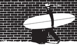 "Surfing Art Print ""Bricks"""