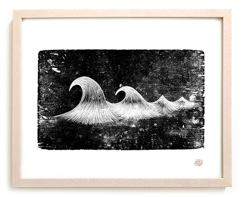 "Limited Edition Surfing Art Print ""Carved"""