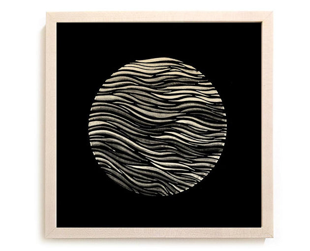 "Contemporary Art Print ""Circle Swell 2"" - India Ink"