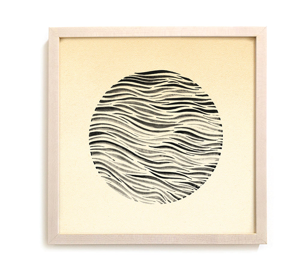 "Contemporary Art Print ""Circle Swell"" - India Ink"