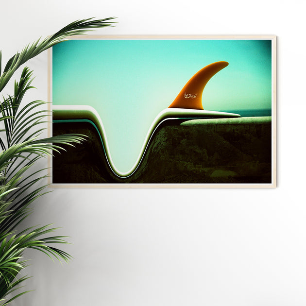 "Limited Edition Beach Art Print ""Concave"" Surreal Surf Series"