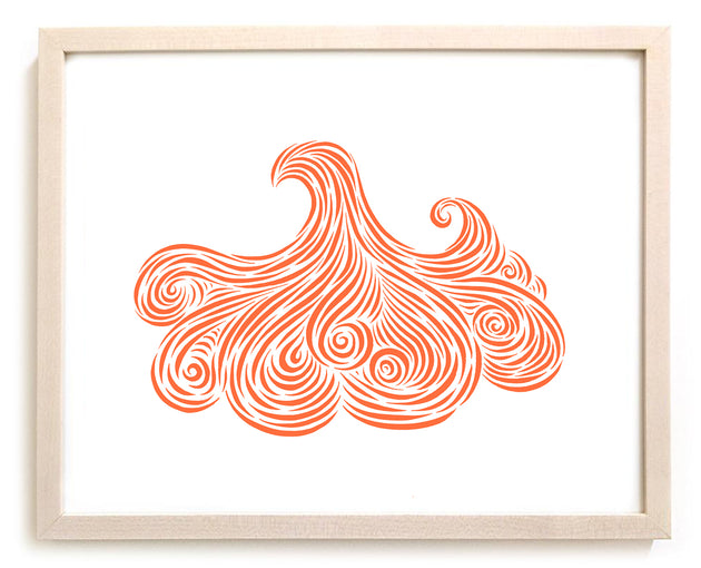 "Surfing Art Print ""Currents"""