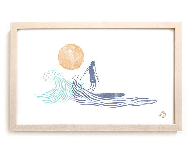 "Limited Edition Surfing Art ""Dawn Breaks"""