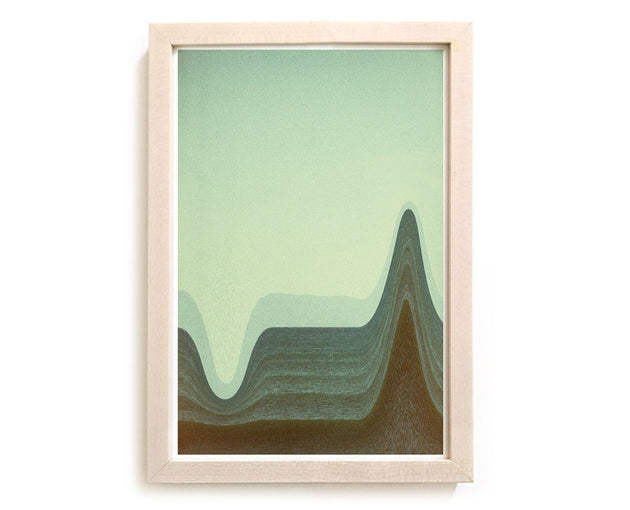 "Limited Edition Beach Art Print ""Depth Sounds"" Surreal Surf Series"