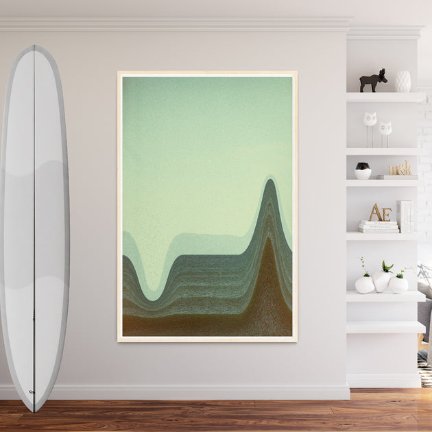 "Beach Art Print ""Depth Sounds"" Surreal Surf Series"