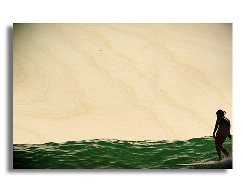 "Surf Art Wood Print Limited Edition ""Drag"""