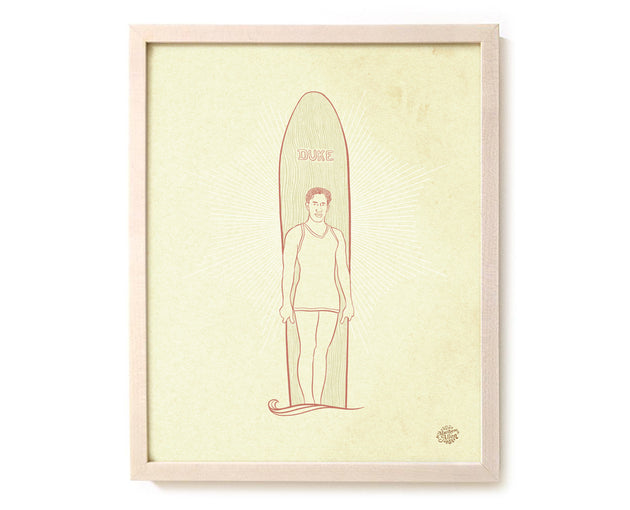 "Surfing Art Print ""Duke"""