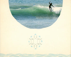 "Limited Edition Surfing Art Print ""Face Of The Deep"" - Mixed Media"