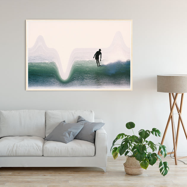 "Limited Edition Beach Art Print ""Fetch"" Surreal Surf Series"