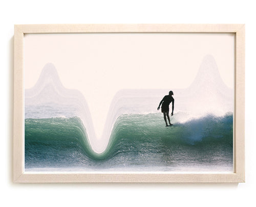 "Surf Art Print ""Fetch"" Surreal Surf Series"