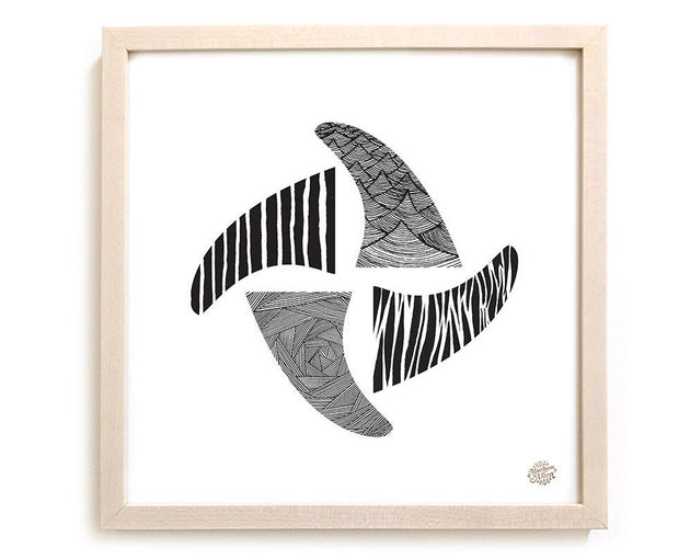 "Limited Edition Surfing Art ""Fins"""
