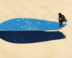 "Surf Art Wood Print Limited Edition ""Fish"""