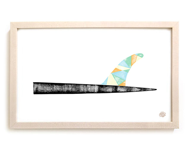 "Limited Edition Surfing Art ""Geo Fin"""