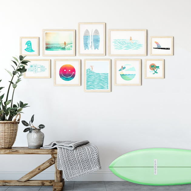 Lady Slider Surf Gallery Wall