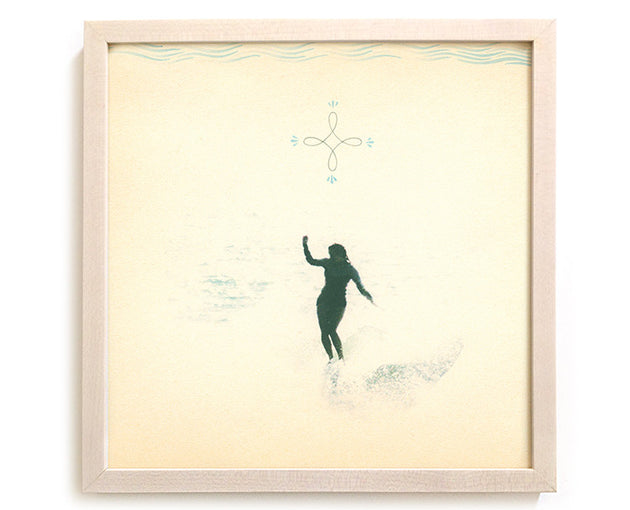"Limited Edition Surfing Art Print ""Grace Upon Grace"" - Mixed Media"