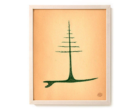 "Surfing Art Print ""Grow"""