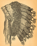 "Native American Art Print ""Headdress"""
