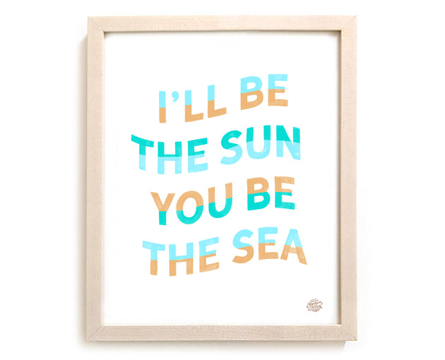 "Surfing Art Print ""I'll Be The Sun"""