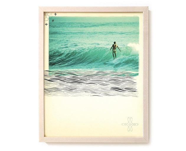 "Surfing Art Print ""In Him We Live And Move"" - Mixed Media"