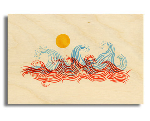 "Surf Art Wood Print Limited Edition ""In The Wilderness"""