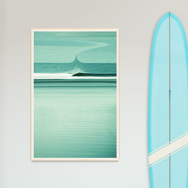 "Surf Art Print ""Into The Ether"" Surreal Surf Series"