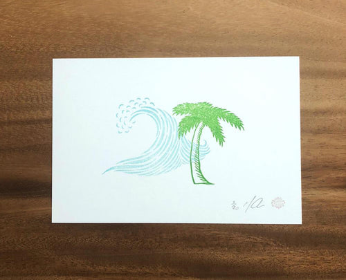 "Limited Edition Linocut Print ""Island Dream"""
