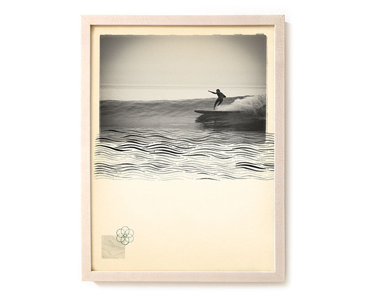 "Limited Edition Surfing Art Print ""Liquid Pull"" - Mixed Media"