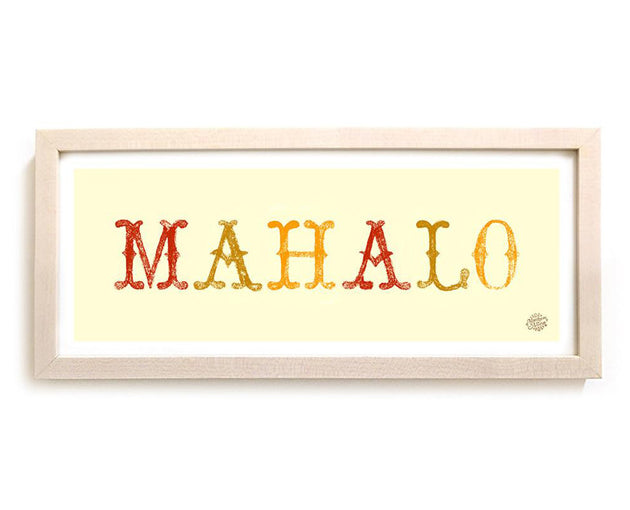 "Limited Edition Surfing Art ""Mahalo"""