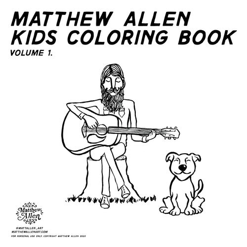 Matthew Allen Kids Coloring Book Vol. 1