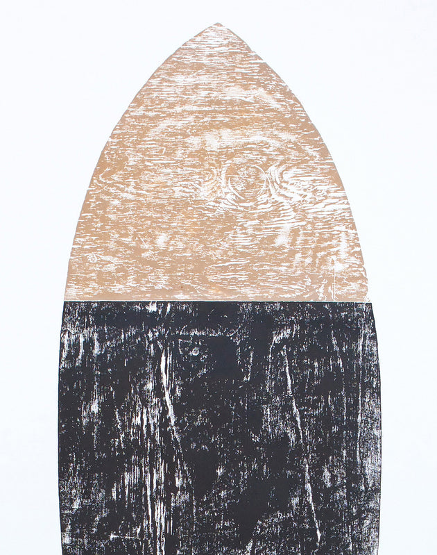 "Original Surfboard Wood Cut Print 4'x7' ""Vessel"""