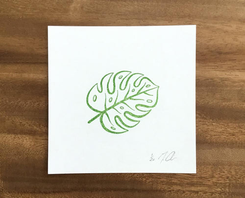 "Limited Edition Linocut Print ""Monstera Leaf"""
