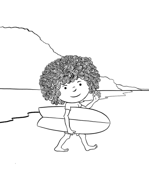 Mop Rides The Waves of Life Coloring Book