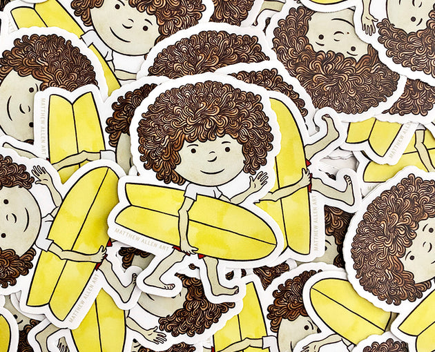Mop Rides The Waves Of Life Stickers (5 Pack)